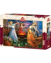 Puzzle Art Puzzle de 2000 piese - Water, Fire And Soil