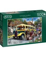 Puzzle Falcon de 500 piese - Urcarea in autobuz -1