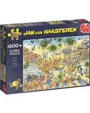 Puzzle Jumbo de 1500 piese -  Oasis, Jan van Haasteren