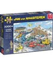 Puzzle Jumbo de 1000 piese -  Linia de start a Formulei 1, Jan Van Haasteren