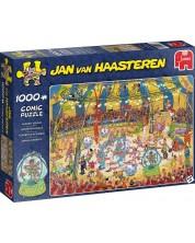 Puzzle Jumbo de 1000 piese - Acrobati la circ, Jan Van Haasteren