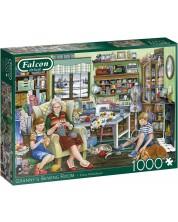 Puzzle Falcon de 1000 piese - Atelierul de croitorie al bunicii, Fiona Osbaldstone -1