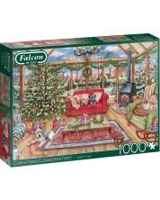 Puzzle Falcon de 1000 piese - Christmas Conservatory, Debbie Cook -1