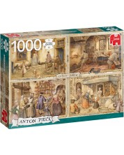 Puzzle Jumbo de 1000 piese - Bakers from the 19th century Anton Pieck