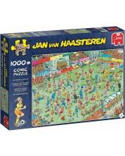 Puzzle Jumbo de 1000 piese - Fotbal feminin, Jan Van Haasteren
