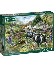 Puzzle Falcon de 1000 piese - O zi la ferma, Fiona Osbaldstone -1