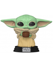 Figurina Funko Pop! Star Wars: The Mandalorian - The Child with cup #378