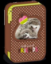 Penar scolar Ars Una Hedgehog - Cu 2 compartimente -1