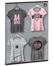 Caiet scolar A4, 40 de file Ars Una - Shirt Pink -1