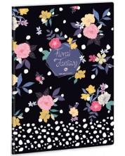 Caiet scolar A4, 40 file Ars Una - Floral Prism -1