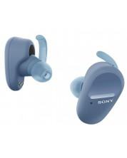 Casti wireless Sony - WF-SP800N, albastre