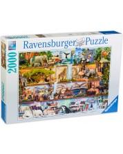 Puzzle Ravensburger de 2000 piese - Regatul animalelor