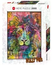 Puzzle Heye de 2000 piese - Inima de leu