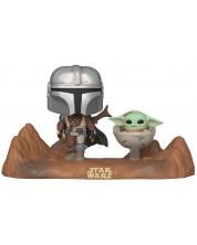 Figurina Funko Pop! Star Wars: The Mandalorian - Mandalorian & Child #390