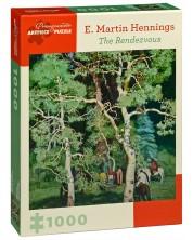 Puzzle patrat Pomegranate de 1000 piese - Intalnirea, Martin Hennings -1