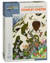 Puzzle Pomegranate de 1000 piese - Nord-vestul alpin, Charley Harper -1