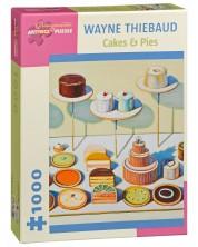 Puzzle Pomegranate de 1000 piese - Torturi si placinte, Wayne Thiebaud -1