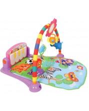 Salteluta pentru gimnastica bebelusului Lorelli Toys - Pian, 92 х 60 cm, roz -1
