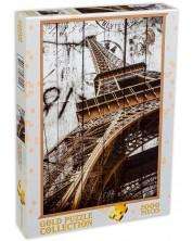 Puzzle Gold Puzzle de 2000 piese - Turnul Eiffel, vintage