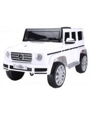 Jeep cu acumulator Ocie 12V Mercedes - Benz G 500 - Alb, cu telecomanda -1