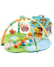 Salteluta pentru gimnastica bebelusului - Happy Farm, verde -1