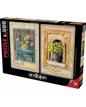 Puzzle Anatolian din 2 x 500 piese - Smile and Real Love