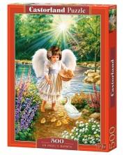 Puzzle Castorland de 500 piese - Caldura angelica, Dona Gelsinger