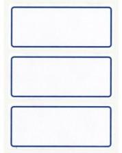 Etichete scolare APLI - Albe cu margine albastra -1