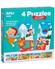 Joc-puzzle de asociere APLI - Anotimpuri