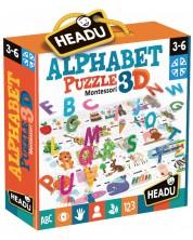 Puzzle educativ Headu Montessori - Alfabet, 3D -1