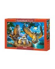 Puzzle Castorland de 500 piese - Familia bufnite