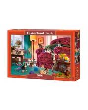 Puzzle Castorland de 500 piese - Pisici obraznici