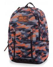 Ghiozdan scolar Cool Pack Impact II - Camo Mesh Orange