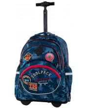 Ghiozdan scolar cu roti Cool Pack Starr - Badges B Blue