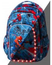 Ghiozdan scolar cu iluminare LED Cool Pack Spark L - Spiderman Denim