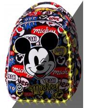 Ghiozdan scolar cu iluminare LED Cool Pack Joy S - Mickey Mouse