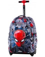 Ghiozdan cu roti Cool Pack Jack - Spiderman Black