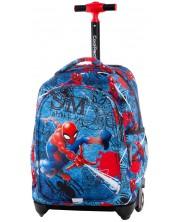 Ghiozdan cu roti Cool Pack Jack - Spiderman Denim