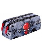 Penar scolar dreptunghiular Cool Pack Edge - Spiderman Black, cu 2 fermoare
