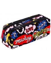 Penar scolar dreptunghiular Cool Pack Edge - Mickey Mouse, cu 2 fermoare