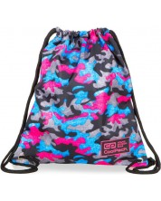 Sac sport cu siret Cool Pack Sprint Line - Camo Fusion Pink
