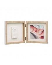 Kit rama foto cu amprenta Baby Art  My Baby Style, culoare lemn si alb -1