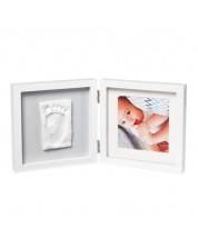 Kit Amprenta bebe Baby Art - My Baby Style, rama alba si gri -1