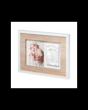 Kit rama foto cu amprenta Baby Art - Wall Print Tiny Style Wooden -1