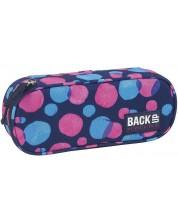 Penar scolar oval BackUP - Puncte colorate, cu un compartiment -1