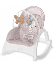Sezlong pentru bebelusi Lorelli - Enjoy, Beige Daisy -1