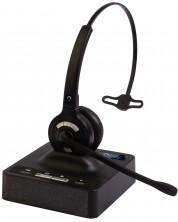 Casti wireless cu microfon  IPN - W980 Mono Dect, negre