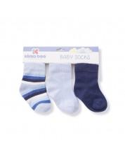 Sosete pentru bebelusi Kikka Boo Stripes - din bumbac, 2-3 ani, albastru inchis -1