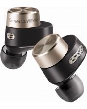 Casti wireless cu microfon Bowers & Wilkins - PI7, TWS, negre