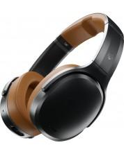 Casti wireless cu microfon Skullcandy - Crusher ANC, negre/maro